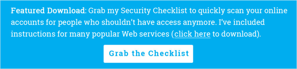 Grab the Security Checklist