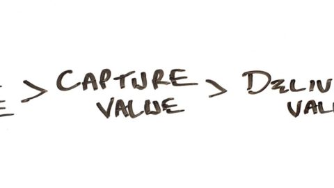 Successful startups need to create more value than they capture and deliver.